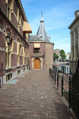 Working office of Prime Minister of the Netherlands at the parliament building Binnenhof in The Hague