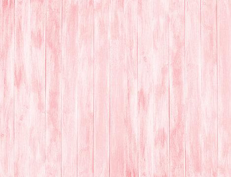 Pink wood planks background. Pink wooden vertical boards decoration.