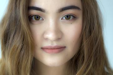A portrait of a pretty woman