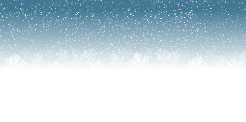 Wall Mural - blue snowflakes background