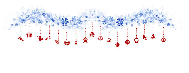 Wall Mural - Elemente Hintergrund hängen Icons Weihnachten