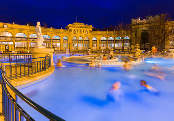 Printed kitchen splashbacks Budapest Szechnyi thermal bath spa in Budapest Hungary