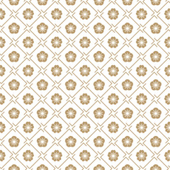 seamless vector japanese traditional geometric pale pattern design with flower symbols.design for textile, packaging, covers