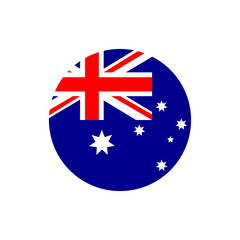 Australia flag, official colors and proportion correctly. Vector illustration