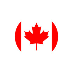 Canada flag, official colors and proportion correctly. Vector illustration