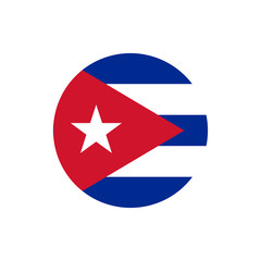 Cuba flag, official colors and proportion correctly. National Cuban flag. Vector illustration