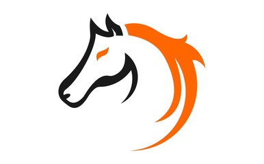 Horse graphic logo template.