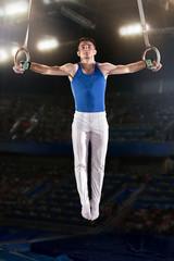 Türaufkleber Gymnastik portrait of young man gymnasts