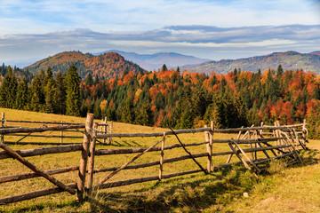 Fototapeta jesień w górach