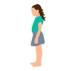 isometric child, little girl