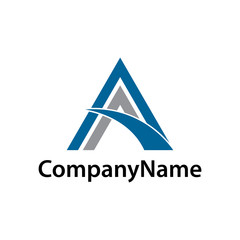 abstract letter A business logo.triangle logo