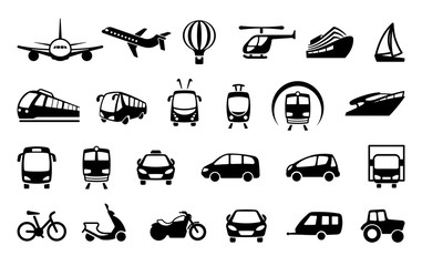 Transport icons. Vector illustration