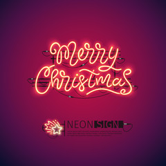 Merry Christmas Red Neon Sign
