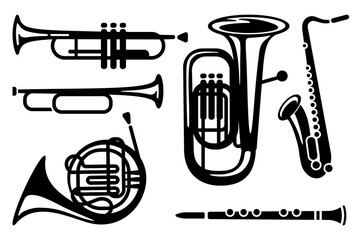 Icons of wind musical instruments