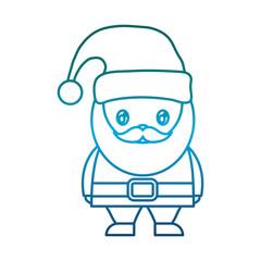 cartoon santa claus icon over white background vector illustration