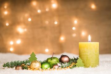 adventsgesteck - erster advent