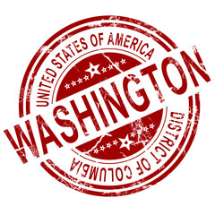 Washington stamp with white background