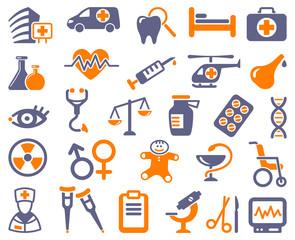 Pharma and Healthcare icons