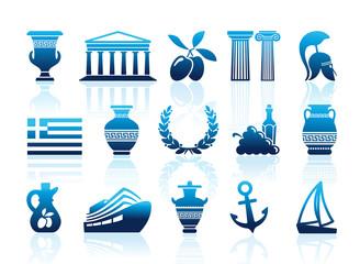 Greece icons. Vector illustration