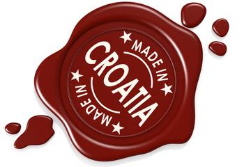 Label seal of Made in Croatia