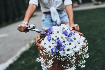 Spring in her basket.
