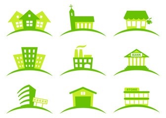 Building icons. Vector illustration