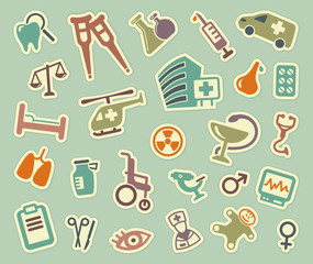 Medical icons. Vector illustration