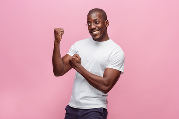 Portrait of a very happy afro American man