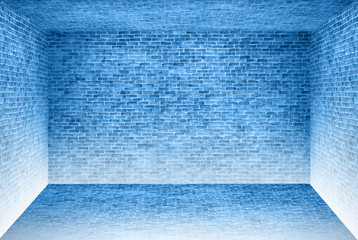 Yellow brick wall room texture background, May use to interior design