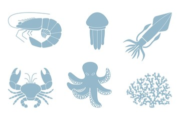 Marine life. Vector illustration
