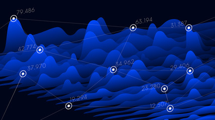 Vector visual information financial statistics, big data futuristic infographics design