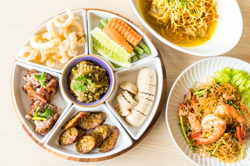 hors d'oeuvres of Northern traditional Thai food