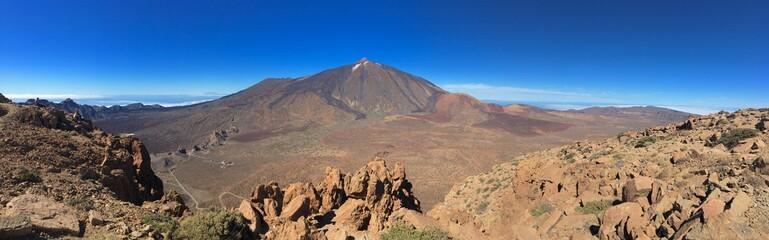 Blick vom Gipfel des Guajara zum Teide