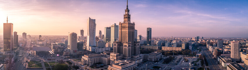 Warszawa z lotu ptaka