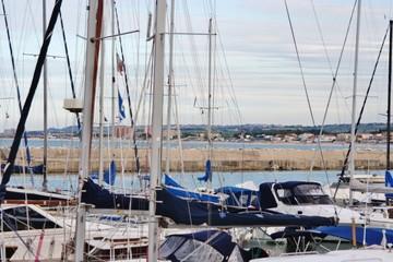 harbour in Sirolo in Conero bay, Ancona, Marche, Italy