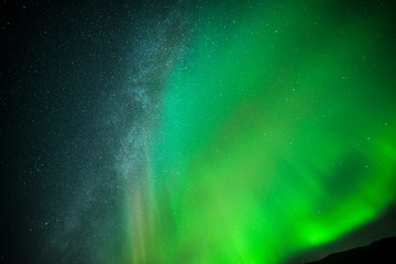 Stars and northern light
