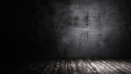 dark cement wall empty room poster 3d illustration