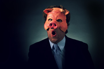 Pig Businessman