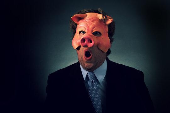 Pig Businessman
