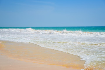 beautiful waves on a sandy beach, Indian Ocean