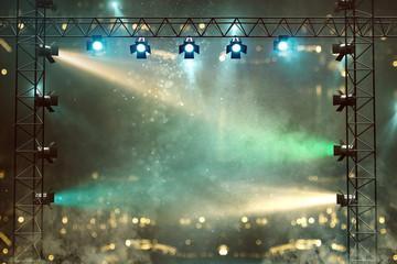 Bühne mit Lichtshow