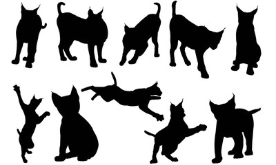 Lynx Silhouette Vector Graphics