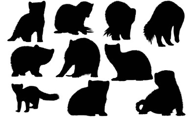Marten Silhouette Vector Graphics