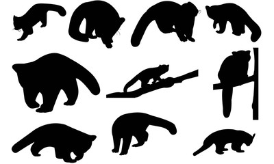 Red panda Silhouette Vector Graphics