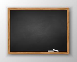 Blackboard with wooden frame, dirty chalkboard