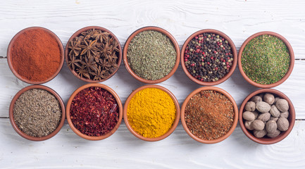 Colection of indian spices