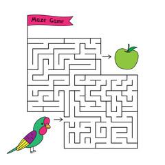 Cartoon Parrot Maze Game