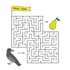 Cartoon Crow Maze Game