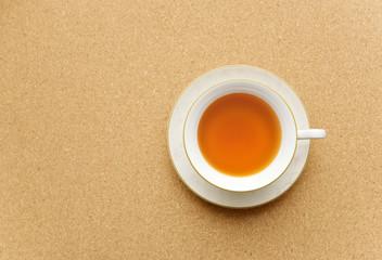 真上から見た紅茶とティーカップ