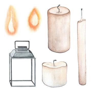 Watercolor wax candles.